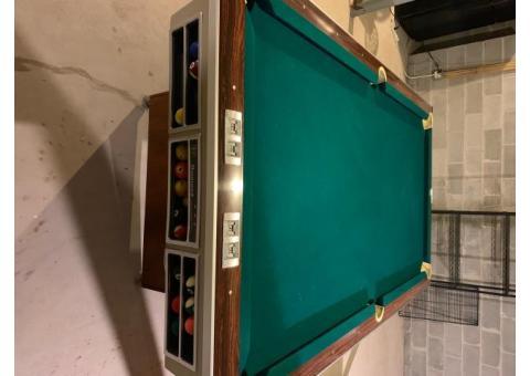 1965 Brunswick Monarch MZ 8' pool table